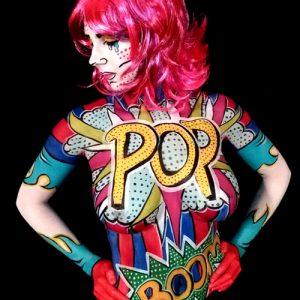 Pop Art Bodypaint Face Fantasy BodyArt & BodyArt on Wheels | FaceFantasy.nl